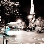 Eiffel Tower by Night by TimothyMonson