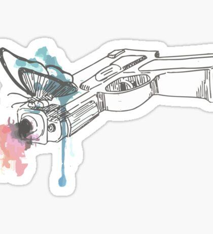 Life is Strange Gun Watercolored Sticker