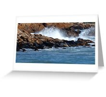Waves on the Rocks!!!!!! Greeting Card