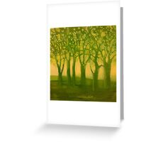 study #1 Sap green Greeting Card