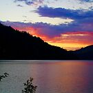 Sunset at Crescent Lake by Barbara  Brown