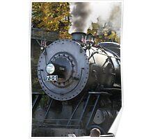 Steam Locomotive at Frostburg Station Poster