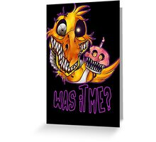 Five Nights At Freddy's 4- NIGHTMARE CHICA W/TEXT Greeting Card