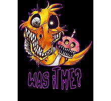 Five Nights At Freddy's 4- NIGHTMARE CHICA W/TEXT Photographic Print