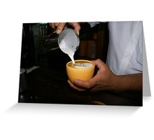 servin coffe latte Greeting Card