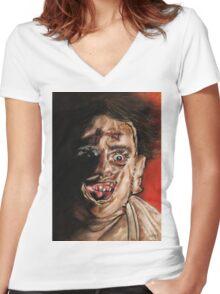 Texas Chainsaw Massacre Women's Fitted V-Neck T-Shirt