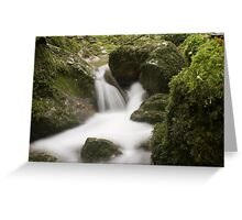 Tiny Waterfall Time Lapse Greeting Card
