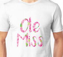 Ole Miss Pink Preppy Unisex T-Shirt