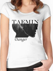 Face Taemin - Danger Women's Fitted Scoop T-Shirt