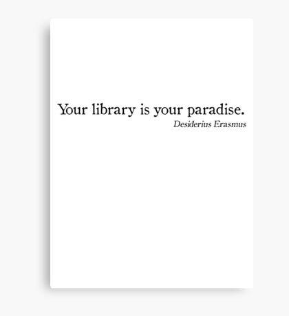 Library Paradise Canvas Print