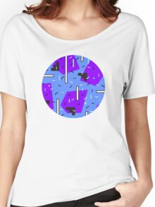 Retro blue pattern +:+:+ Women's Relaxed Fit T-Shirt