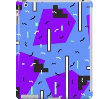 Retro blue pattern +:+:+ iPad Case/Skin
