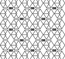EXO Call me baby Pattern black by kpoplace