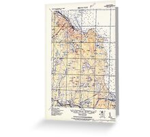 Massachusetts  USGS Historical Topo Map MA Plymouth 352960 1921 62500 Greeting Card