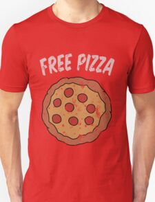 Free Pizza Guy (print on RED for best results) T-Shirt