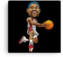Lebron cartoon Canvas Print