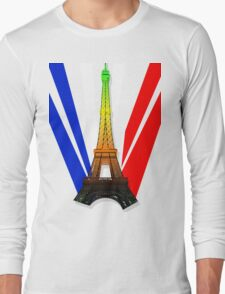 French Flag- Aromantic Pride Long Sleeve T-Shirt