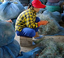 Cleaning The Nets by Dave Lloyd