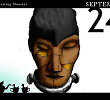 September 24th - The resting monster by 365 Notepads -  School of Faces