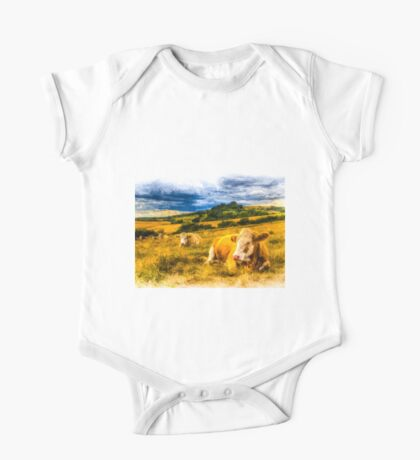 Resting Cows Art One Piece - Short Sleeve