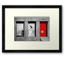 RED ENTRY Framed Print