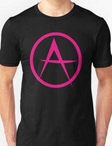 HOT PINK ANARCHY symbol Unisex T-Shirt