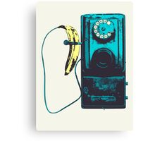 Vintage Banana Public Telephone Canvas Print