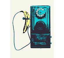 Vintage Banana Public Telephone Photographic Print