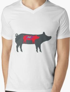Pigs in Pigs in Pigs Mens V-Neck T-Shirt