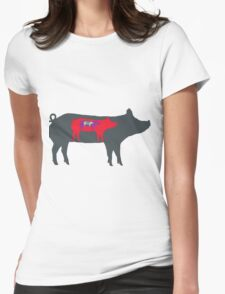Pigs in Pigs in Pigs Womens Fitted T-Shirt