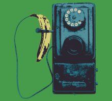Vintage Banana Public Telephone Kids Tee