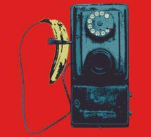 Vintage Banana Public Telephone One Piece - Short Sleeve