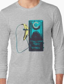 Vintage Banana Public Telephone Long Sleeve T-Shirt