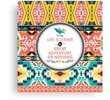 Decorative bright pattern in aztec style Canvas Print