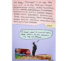 orwellian quote Photographic Print