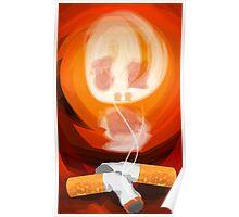 symbol on cigarette smoke Poster