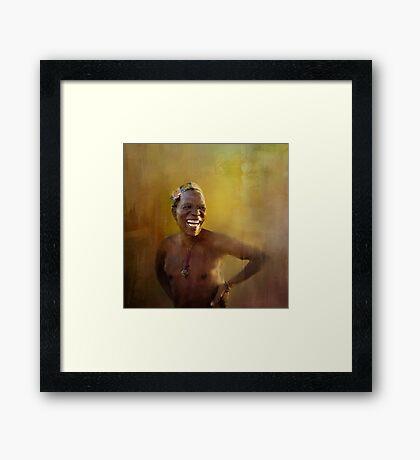 The San people! Framed Print