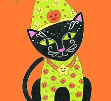 Halloween Black TunaKitty by Laura J. Holman