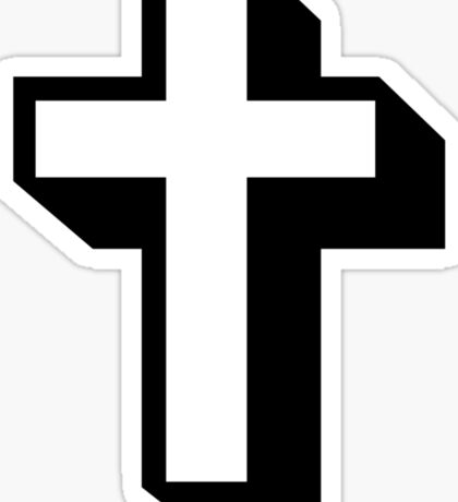 Cross. Sticker