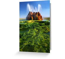 Green Fly Geyser Greeting Card