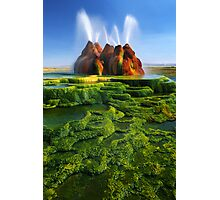Green Fly Geyser Photographic Print