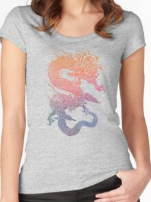 Colourful Chinese Dragon Women's Fitted Scoop T-Shirt