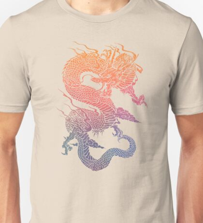 Colourful Chinese Dragon Unisex T-Shirt