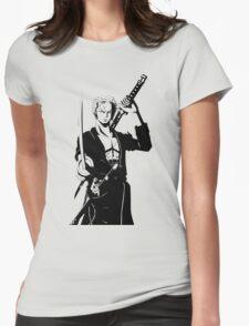 one piece roronoa zoro anime manga shirt Womens Fitted T-Shirt