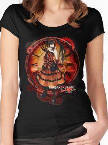 Tokisaki Kurumi Black Date-a-Live Anime T-shirt Women's Fitted Scoop T-Shirt