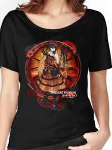 Tokisaki Kurumi Black Date-a-Live Anime T-shirt Women's Relaxed Fit T-Shirt