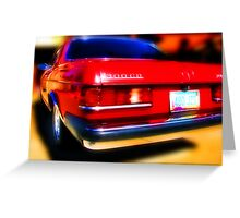 red mercedes benz 300cd Greeting Card