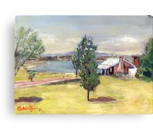 Blundell's Farmhouse, Canberra, 1960s Canvas Print