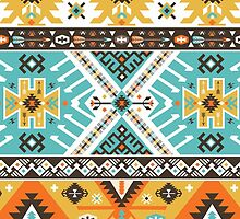 Decorative bright pattern in aztec style by tomuato