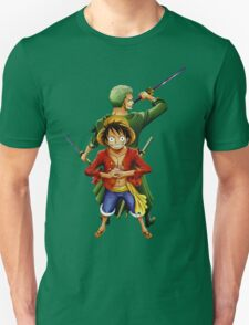 one piece roronoa zoro monkey d luffy anime manga shirt T-Shirt